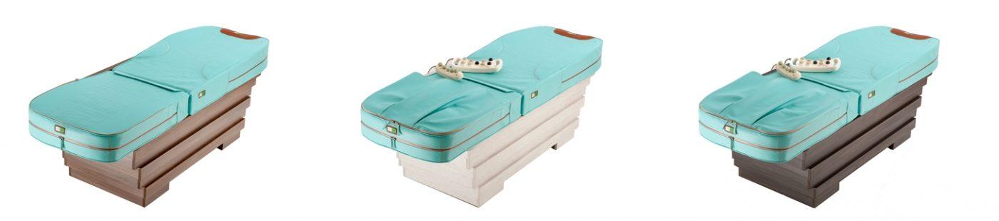 pat de masaj cu pietre de jad si raze infrarosii ideal pentru tratament varice