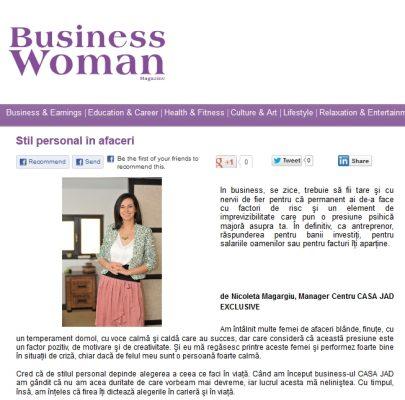 nicoleta magargiu in revista business woman