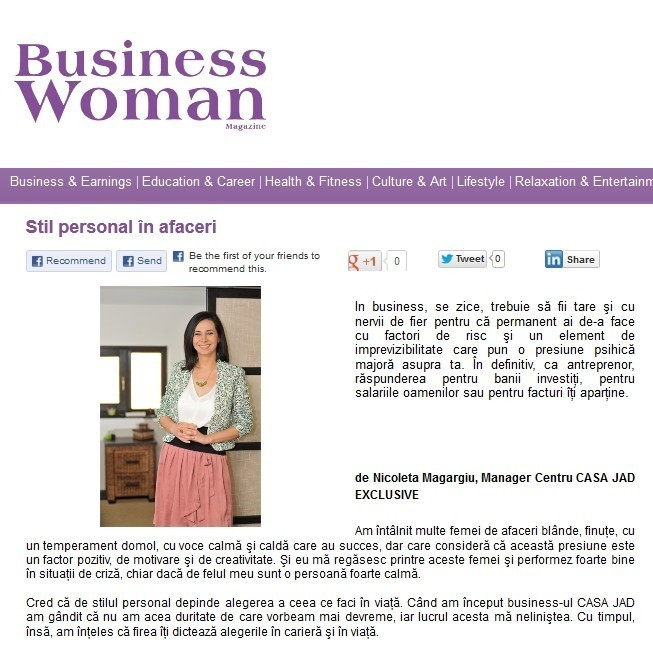 nicoleta magargiu in revista business woman