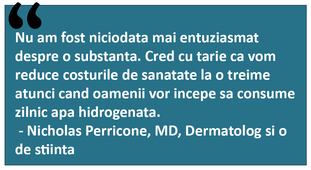 citat medic / doctor despre apa hidrogenata